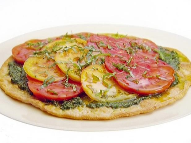 Heirloom Tomato and Basil Tart