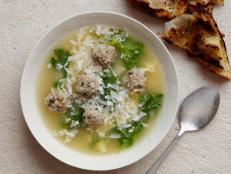 For a warm bowl of Italian comfort, try Giada De Laurentiis' Italian Wedding Soup recipe, studded with tasty little beef-pork meatballs.