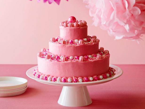 Birthday Cake with Hot Pink Butter Icing Recipe Ina Garten