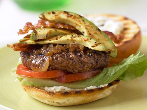 Grilled Avocado BLT Burgers
