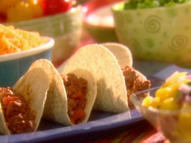 Beef Tacos with Mango-Hot Pepper Salsa