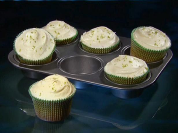 Key Lime Coconut Cupcakes with White Chocolate Frosting