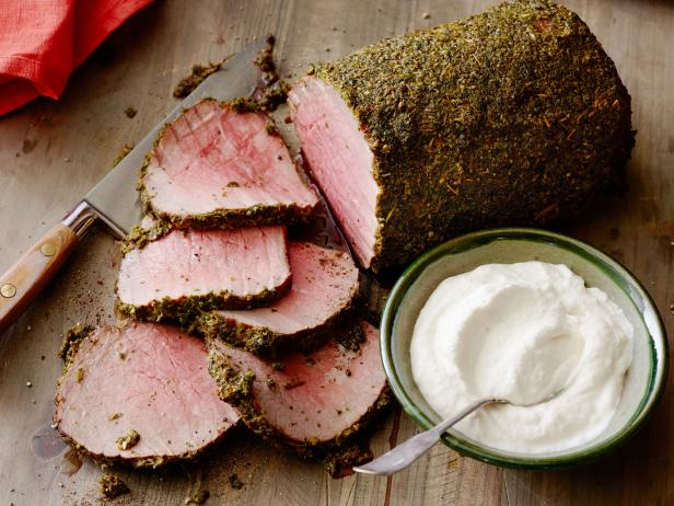 Herb-Crusted Roast Beef with Horseradish Cream