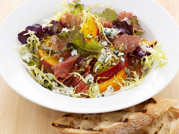 Fruit and Gorgonzola Salad with Prosciutto