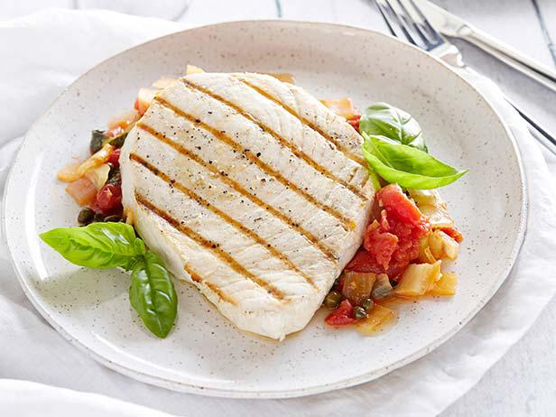 Swordfish with Tomatoes and Capers