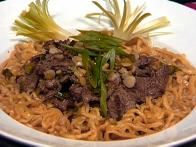 Ginger Beef and Noodle Bowls