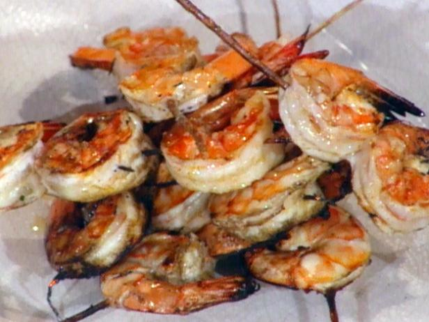 Shrimp Shish Kebabs - Spiedini di Scampi