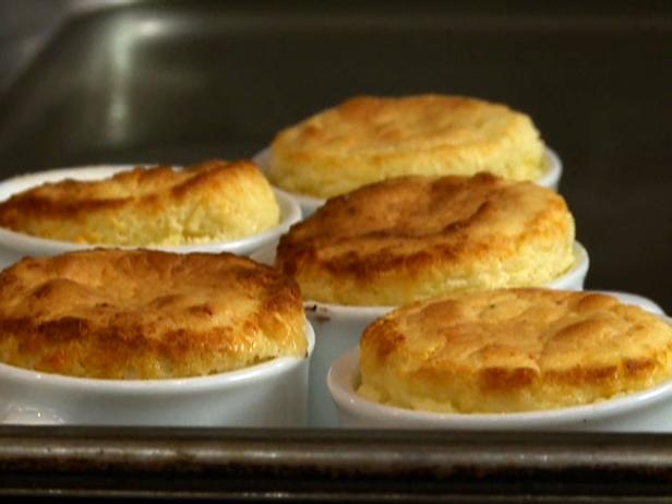 Warm Edam Cheese Souffle with Crispy Bacon