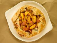 Fresh Peaches and Cream Rustic Pie