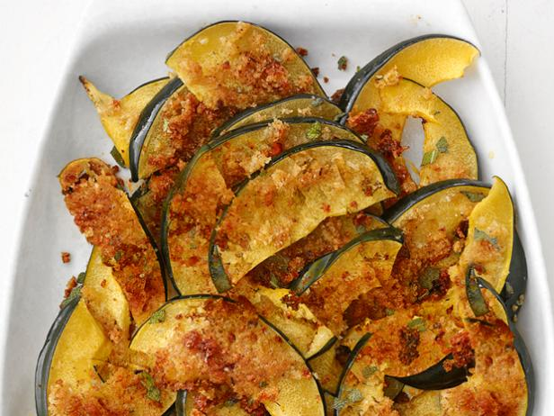 Cheese-Crusted Squash