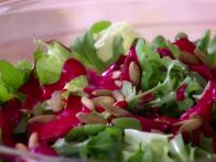 Bibb and Arugula Salad with Raspberry...
