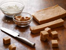 For an easy, chewy treat, make a batch of Alton Brown's Peanut Butter Fudge recipe from Good Eats on Food Network; you need only four ingredients.