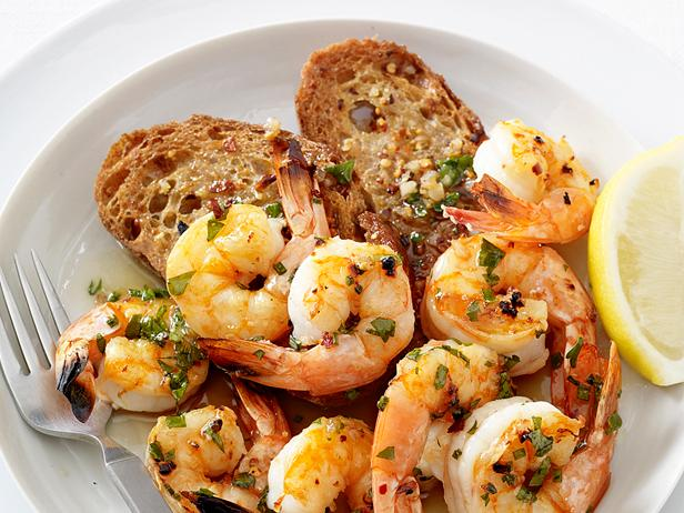 Shrimp Scampi with Garlic Toasts