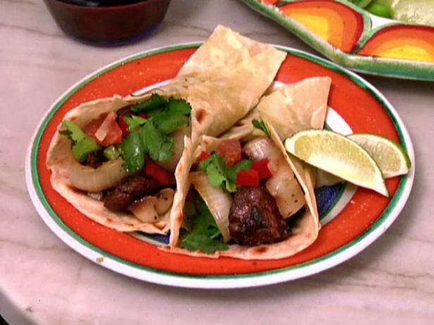 Fajitas with Marinated Flank Steak and Rajas
