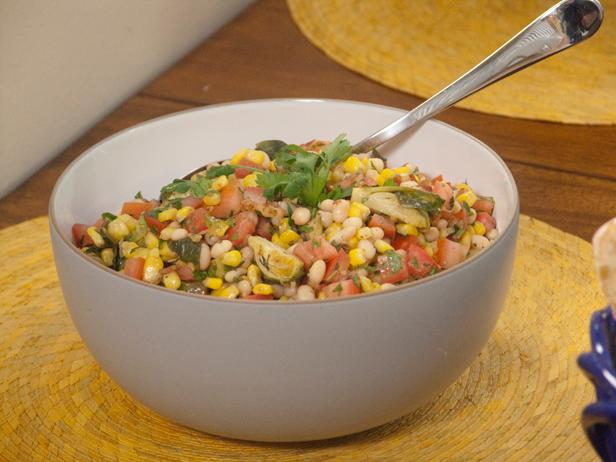 Roasted Corn and Brussels Sprouts Succotash