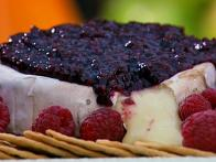 Gina's BBQ Brie with Raspberries