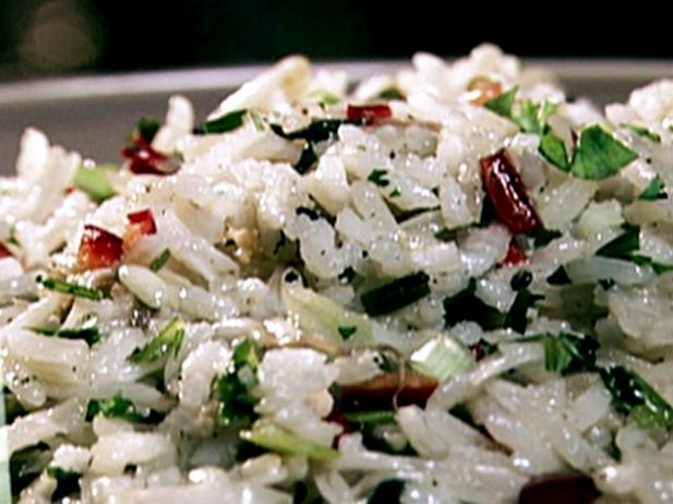 Toasted Jasmine Rice with Grilled Scallions
