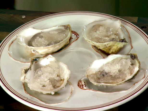 Oysters with Prosecco Granita