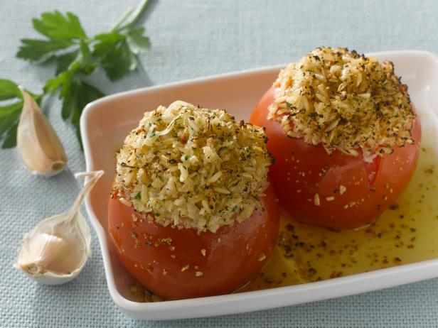 Tomatoes Stuffed with Brown Rice and Chihuahua Cheese