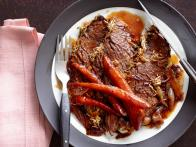 Horseradish-Crusted Brisket With Carrots