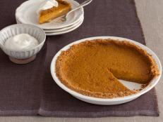 Try Bobby Flay's recipe for pumpkin pie, complete with graham cracker crust, from Food Network.