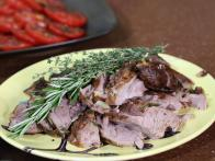 Slow-Roasted Parchment-Wrapped Leg of Lamb with Garlic and Herbs