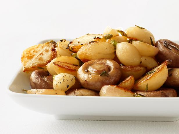 Roasted Turnips and Mushrooms