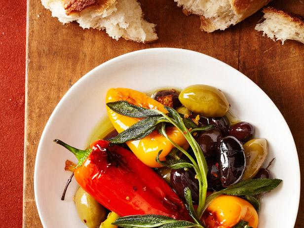Fried Peppers and Olives