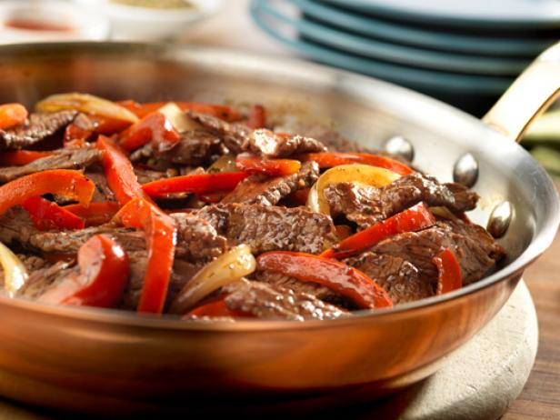 Steak with Bell Peppers