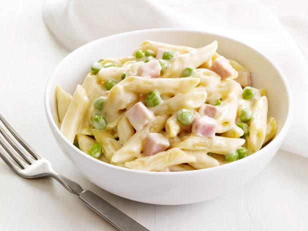 Four-Cheese Pasta With Peas and Ham