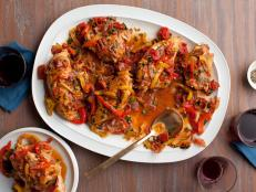 Giada De Laurentiis' Roman-Style Chicken, from Everyday Italian on Food Network, is the perfect make-ahead recipe; it tastes even better reheated the next day.