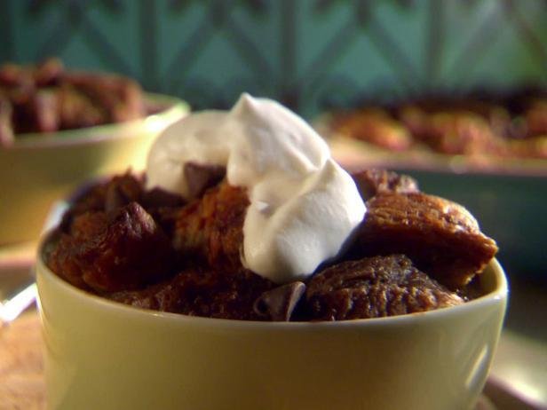 Double Chocolate Bread Pudding with Bourbon Whipped Cream