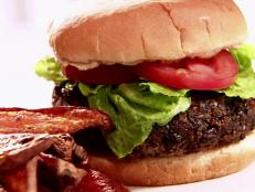 Take a bite out of Sandra Lee's Black Bean Burger recipe from Sandra's Money Saving Meals on Food Network for a budget-friendly vegetarian meal from the grill.