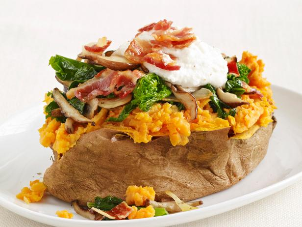Stuffed Sweet Potatoes With Pancetta and Broccoli Rabe