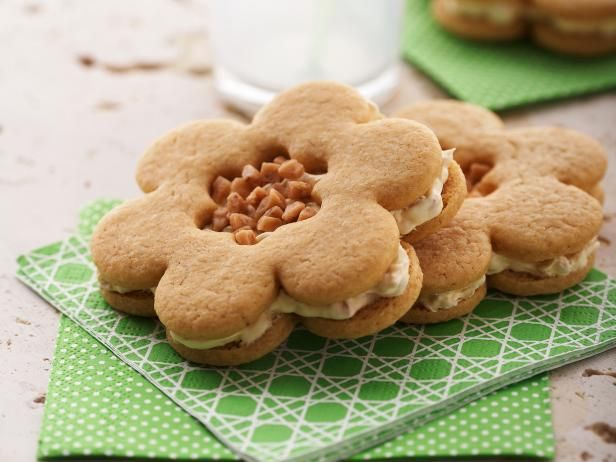 Butter Toffee Flower Sandwiches