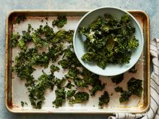 Make your own crispy kale chips at home, thanks to Melissa d'Arabian from Ten Dollar Dinners on Food Network.