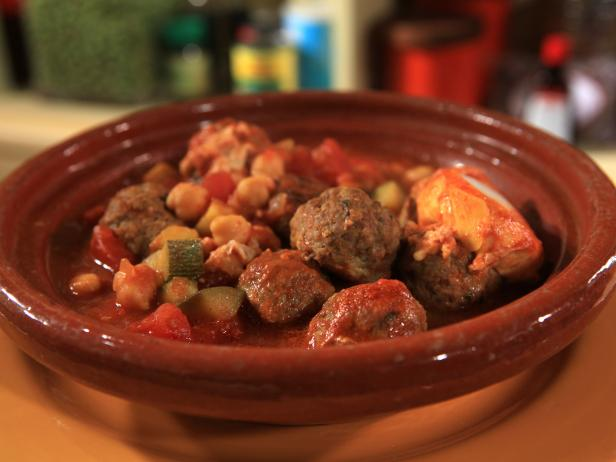 Moroccan Meatballs with Eggs