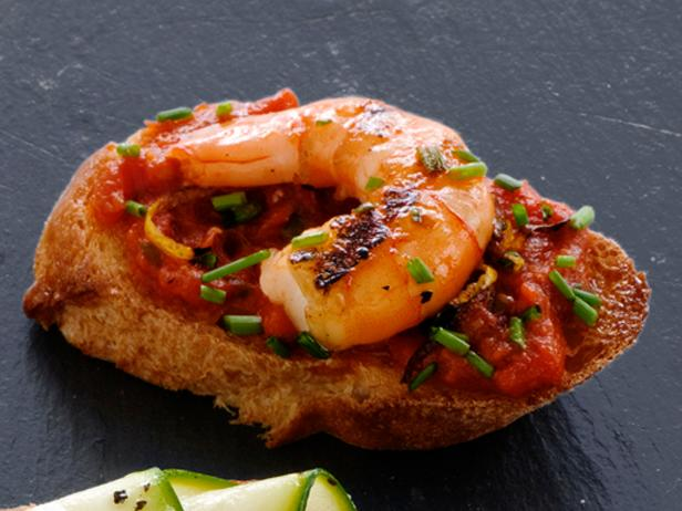 Spicy Shrimp Bruschetta