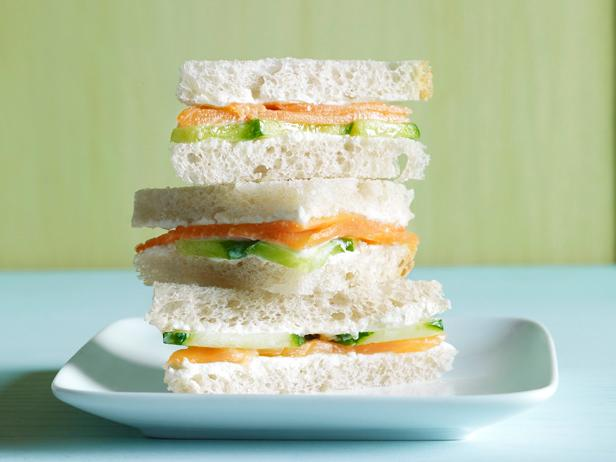 Salmon-Cucumber Tea Sandwich