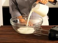 Pour Heavy Cream Into Chilled Mixing Bowl