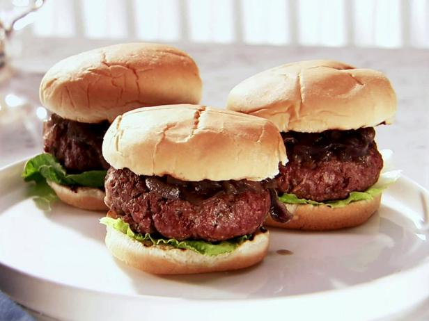 Ale House Burgers with Red Onion Compote