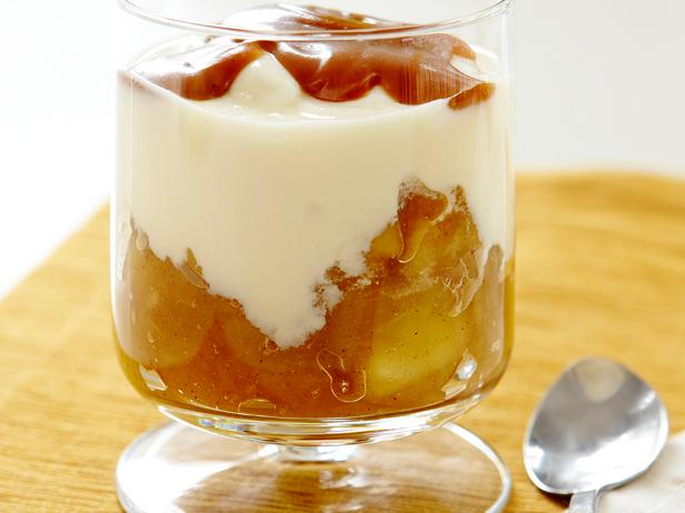 Homemade Yogurt With Apple Compote