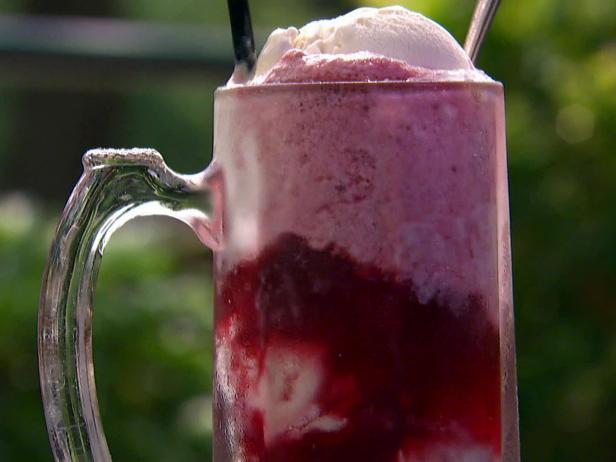 Framboise and Creole Cream Cheese Ice Cream Float