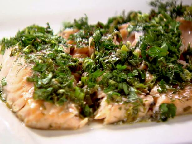 roasted salmon with green herbs - Food Network Com Barefoot Contessa Recipes