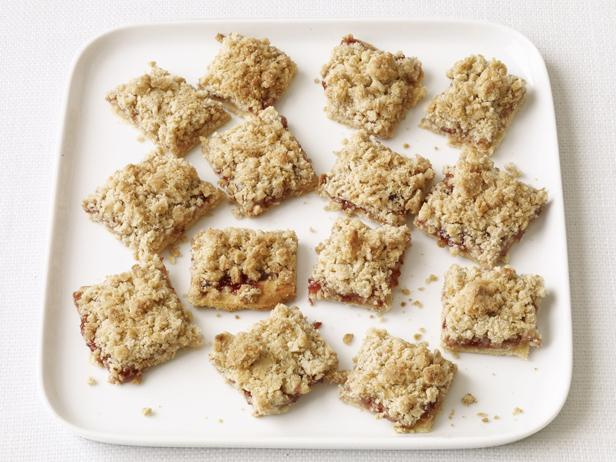 Jam-and-Oat Squares
