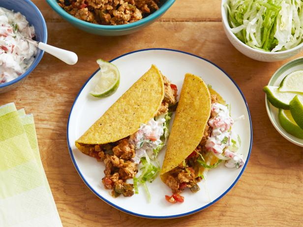 Ground Chicken Tacos with Creamy Salsa