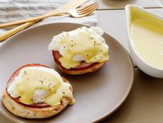 Hollandaise sauce is easy with this foolproof brunch recipe from Tyler Florence on Food Network; the trick is to use a wire whisk and a clean bowl.
