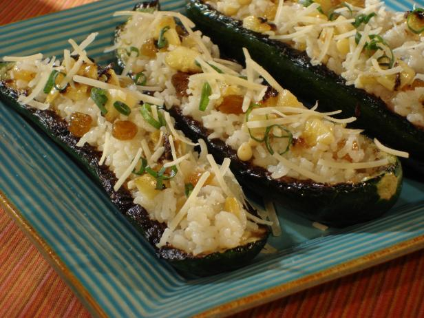 Grilled Stuffed Zucchini