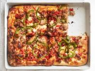 Sicilian Pizza With Sausage and Peppers