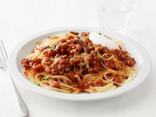 Spaghetti With Quick Turkey Chili